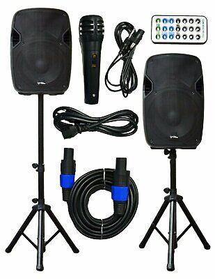 2x Ignite Pro 12'' Pro Series Speaker DJ PA System Bluetooth