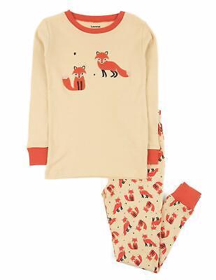 Leveret Kids Pajamas Boys Girls 2 Piece pjs set Animal Prints 100% Cotton -