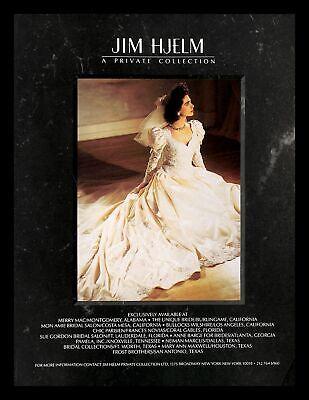 1988 Jim Hjelm Wedding Dress Gown Vintage PRINT IMAGES Marriage Bride Private