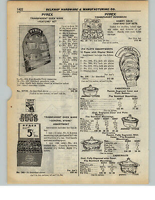 1937 PAPER AD 5 PG Pyrex Store Display SignOvenware Tea Pot Gift Sets Oven Ware