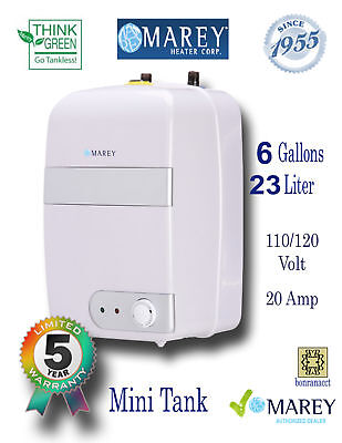 6 Gallon Electric Water Heater Marey Compact Under Sink Mini Tank New 110V 20 A
