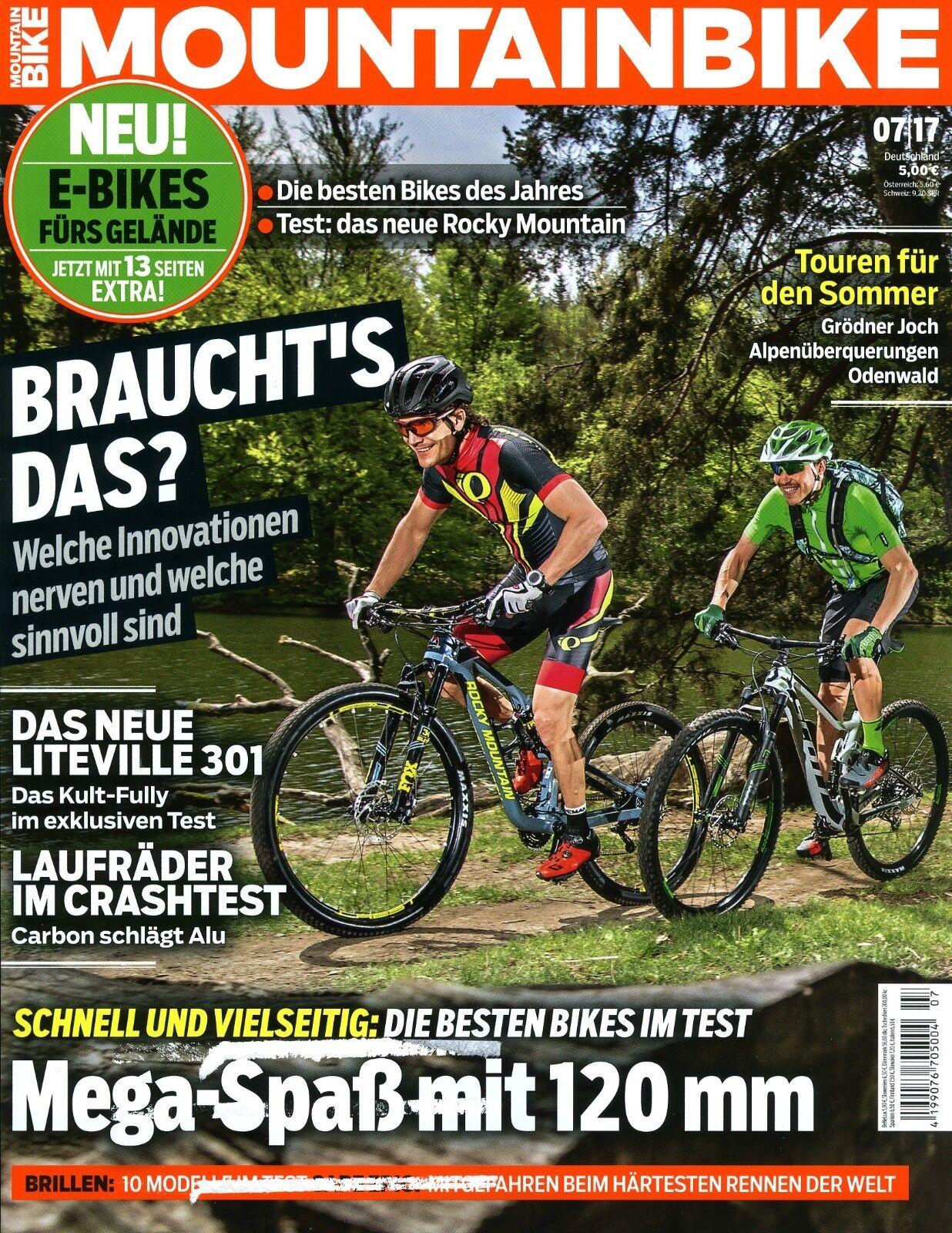 Mountainbike Heft 7/2017 (E-Bikes fürs Gelände, Laufräder im Crashtest)