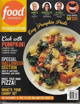 FOOD NETWORK magazine October 2016 Halloween Fall Section, 50 Spooky Treats Kids - Halloween Food Treats