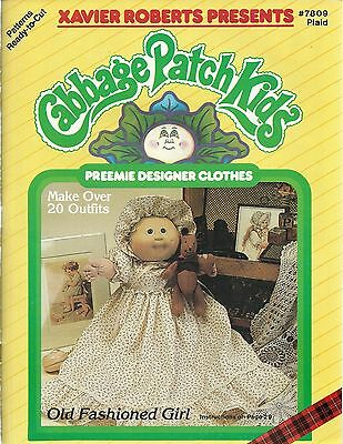 Used, Cabbage Patch Kids PREEMIE DESIGNER CLOTHS Doll Xavier Roberts 1986 Book NEW for sale  Shipping to India