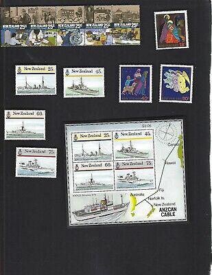 New Zealand sc#836-43 #842a Souvenir Sheet (1985-6) MNH