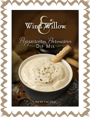 WIND & WILLOW 1 Pack Peppercorn Parmesan Dip Mix~For Chips, Veggies, Crackers~ - Dip For Crackers