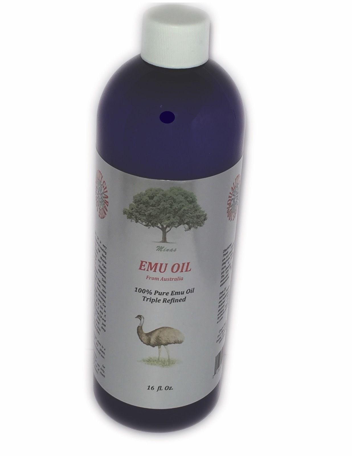 16 Oz Australian Emu Oil Organic Triple Refined Natural P...