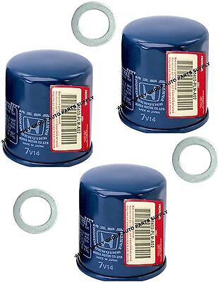 3 GENUINE HONDA / ACURA OIL FILTER Updated Original Equipment w/ Washer Gasket