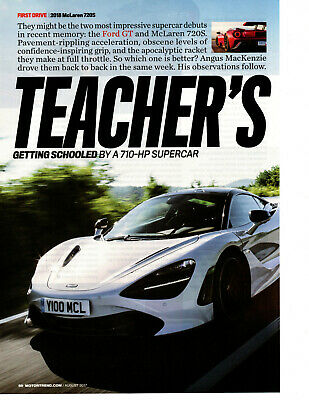 2018 McLAREN 720S 710-HP ~ NICE 4-PAGE ARTICLE / AD
