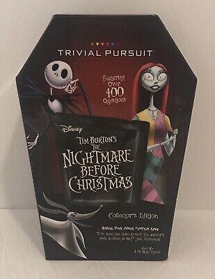 Chritmas Games (Disney Tim Burton's Nightmare Before Chritmas Trivial Pursuit Game)