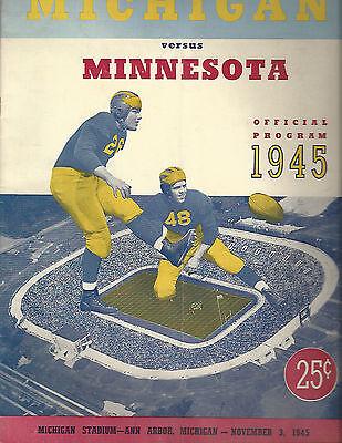 1945 Michigan MInnesota college football program Crisler Oosterbaan Elliott
