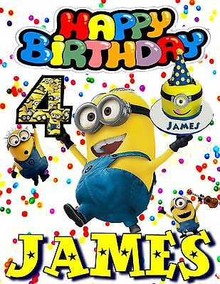 Minion Personalized - Birthday T-Shirt Party Favor. Personalized Minion t-shirt - Birthday Minion