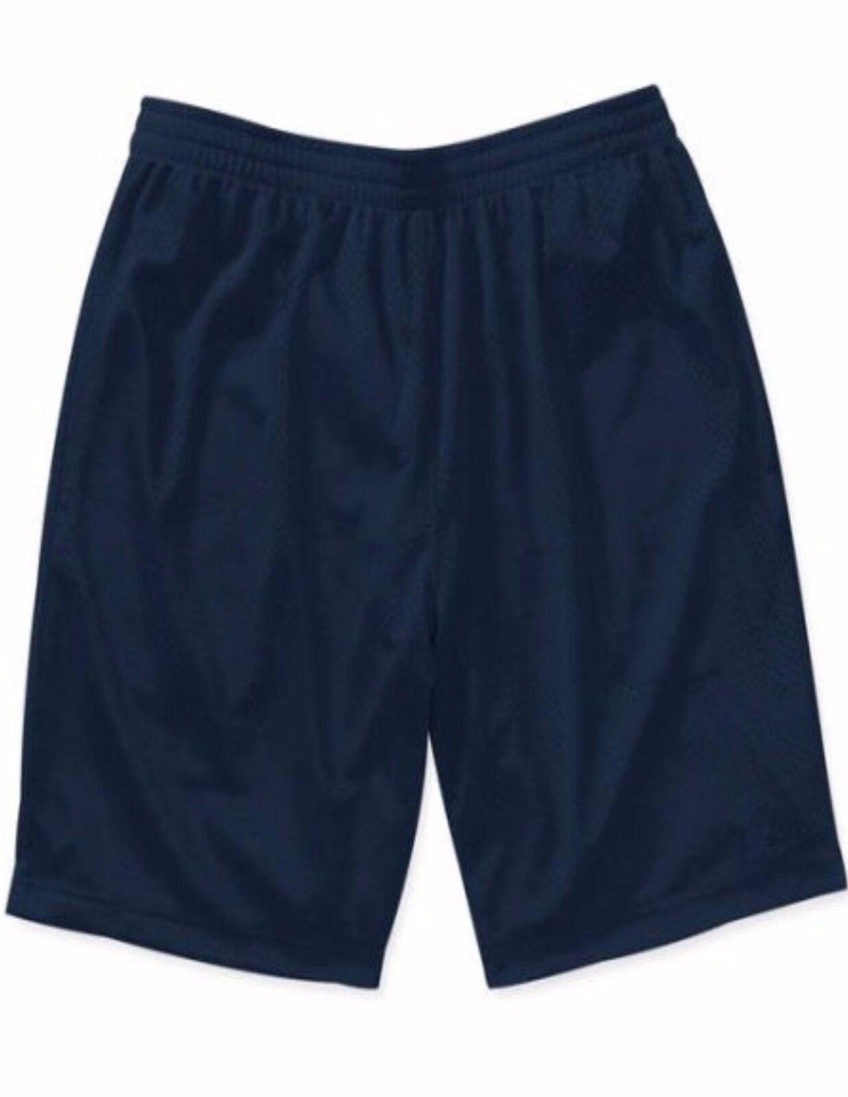 NEW Starter Mens Active Mesh Basketball Running Shorts Navy