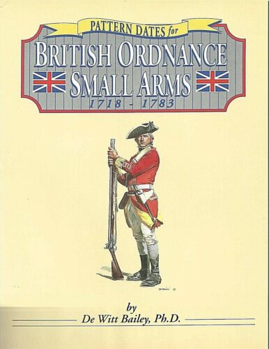 PATTERN DATES FOR BRITISH ORDNANCE SMALL ARMS-1718-1783