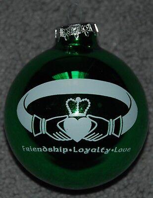 St Patricks Day Irish Claddagh Ring Glass Christmas Ornament ](St Patricks Day Ornaments)