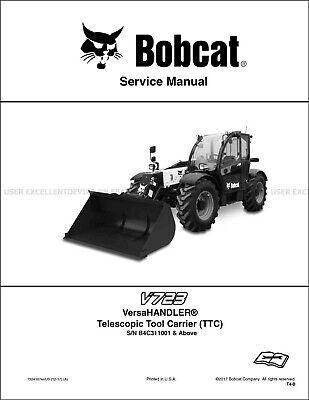Bobcat V723 Versahandler Revision 2017 Update Printed Service Manual 7324187