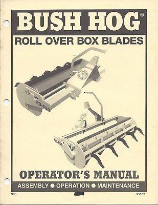 Bush Hog Roll Over Box Blade Operator Manual 95162