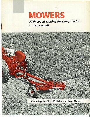 Ih Farmall Mccormick Fast Hitch Sickle Mowers Sales Brochure 130 230 350 450 Cub