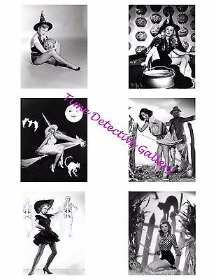 Halloween Pinup Girls #2 -Photo Collage for Scrapbooking / Crafts / ATCs / ACEOs](Halloween Crafts For Girls)