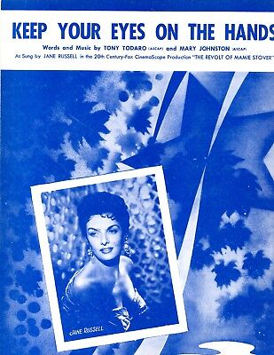 Jane Russell sheet music Keep You Eyes... from film THE REVOLT OF MAMIE STOVER