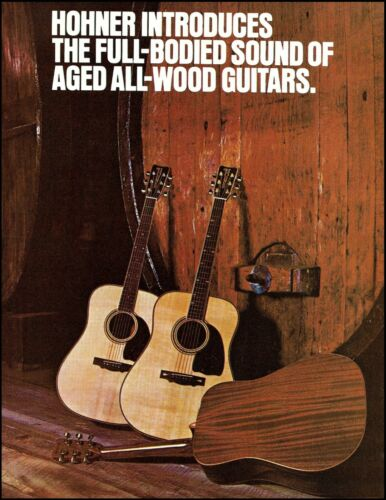 1979 Hohner Full-Body Aged Wood Acoustic Guitar Series advertisement ad print