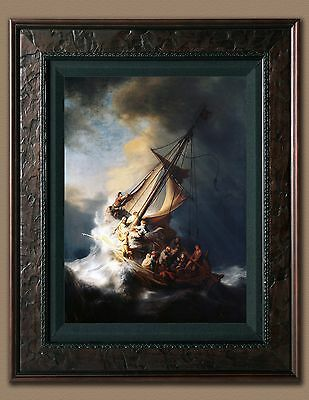 Jesus Christ In Storm Rembrandt Bible Picture 8X10 New Print Photo Old Antique