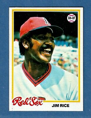 1978 Topps JIM RICE Boston Red Sox #670 MINT Condition & Well Centered! Boston Red Sox Center