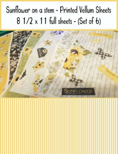 Scrapbooking Vellum Paper - Printed Vellum Sheets - Sunshine on a Stem