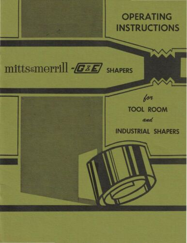 Gould & Eberhardt G&E Tool Room and Industrial Shapers Instruction Manual 1970
