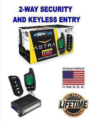 Scytek A777 Car Alarm System With Keyless Entry   Lcd 2 Way Remote Control