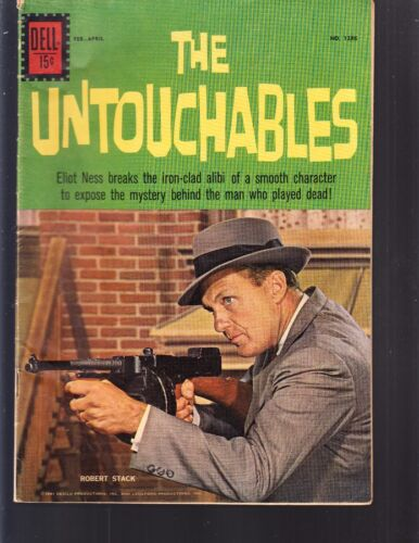 4-COLOR-UNTOUCHABLES  #1286  DELL  1961 VG/FN  MOVIE/TV -ROBERT STACK..PHOTO-c