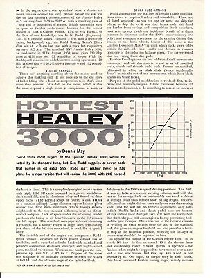1960 AUSTIN-HEALEY 3000 ~ ORIGINAL 4-PAGE ARTICLE / AD