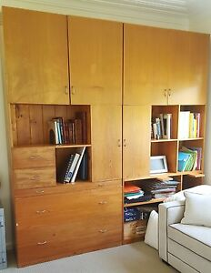 FREE Office Cupboard shelves book case filing drawers - wooden Yowie Bay Sutherland Area Preview