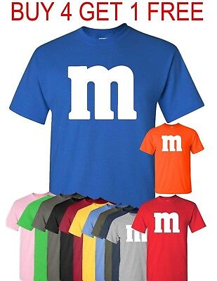 M & M T-Shirt Halloween T shirt Costume M and M  Costumes Tee - 100 Cotton Halloween Costumes