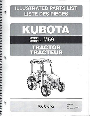 Kubota M59 Tractor Illustrated Parts Manual 97898-23991