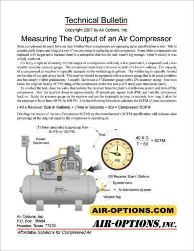 2 Stage Air Compressor Performance Check - How to Check Actual Compressor Output