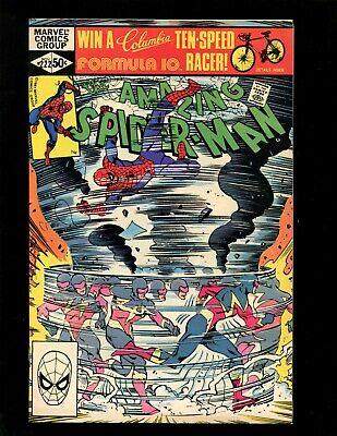 Amazing Spider-Man #222 VF- Simonson 1st & Origin Speed Demon (Whizzer) Avengers