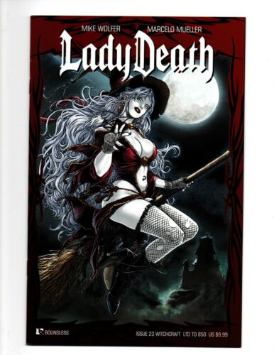 Lady Death #23 Witchcraft Edition NM- Boundless, Limited to 850 witch broomstick