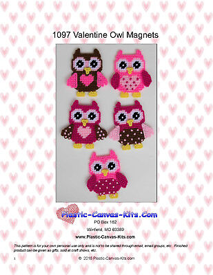Valentine's Day Owl Magnets-Plastic Canvas Pattern or Kit](Valentine Owl)