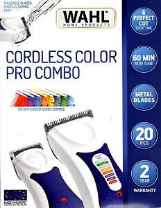WAHL ColourPro WET & DRY BONUS COMBO. Cord/Cordless Colour Pro Clipper & Trimmer
