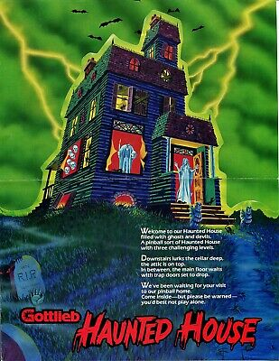 Haunted House Gottlieb Pinball Flyer / Brochure / Ad