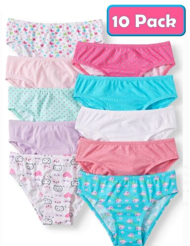 Wonder Nation Girl's Hipster Cotton Panties Sizes 4T - 5T ~ 10 Pack ~