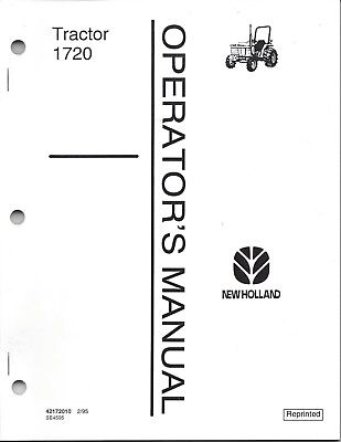 Ford 1720 Tractor Operator Manual 42172010