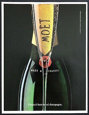 1990 Moet & Chandon French Champagne Bottle photo Best-Loved vintage print