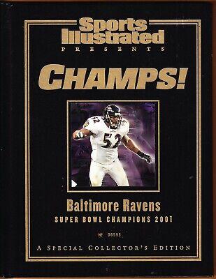 BALTIMORE RAVENS si presents Super Bowl 2001 Champions Limited Issue black book Baltimore Ravens Super Bowl Champions
