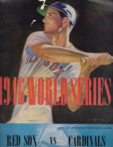 1946 World Series Program Red Sox-Cardinals Fenway Park Edition NICE!!