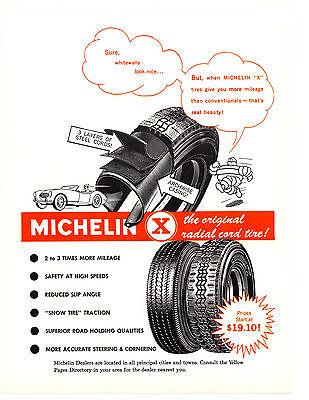 1964 MICHELIN TIRE / MG ~ ORIGINAL PRINT AD