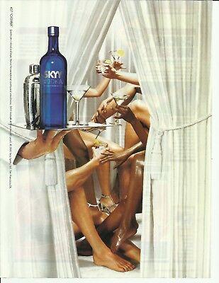 "#37 ""CABANA'"" SKYY Vodka- 2005 print magazine ad"