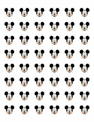 48 MICKEY MOUSE FACE ENVELOPE SEALS LABELS STICKERS 1.2