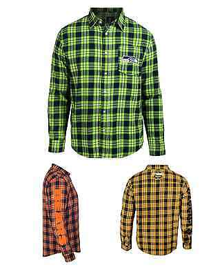NFL Football Team Logo Mens Long Sleeve Wordmark Flannel Shirt - Pick Your Team!